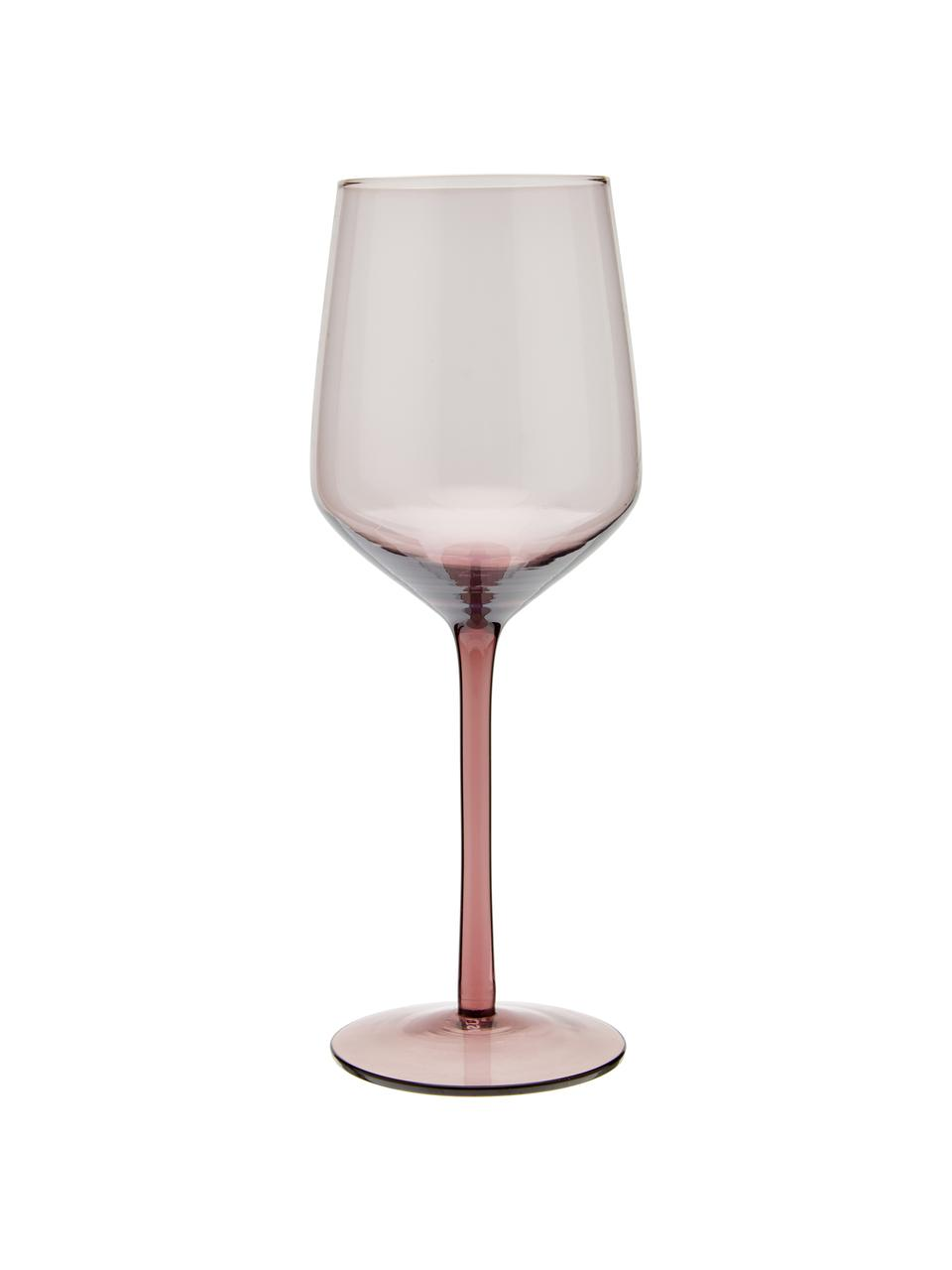 Komplet dużych kieliszków do wina ze szkła dmuchanego Desigual, 6 elem., Szkło dmuchane, Brązowy, odcienie różowego, zielony, żółty, lila, Ø 7 x W 24 cm