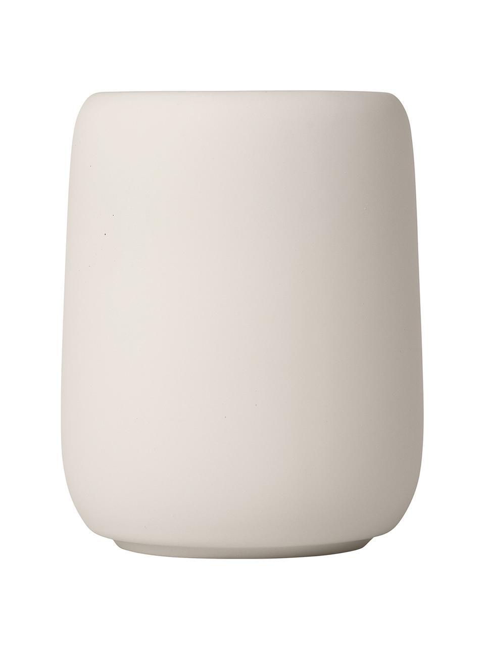 Zahnputzbecher Sono aus Keramik, Keramik, Beige, Ø 9 x H 11 cm