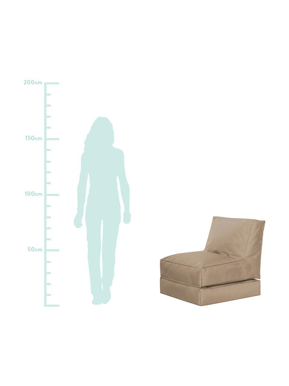 Fotel ogrodowy z funkcją leżenia Pop Up, Tapicerka: 100% poliester Wewnątrz p, Khaki, S 70 x G 90 cm