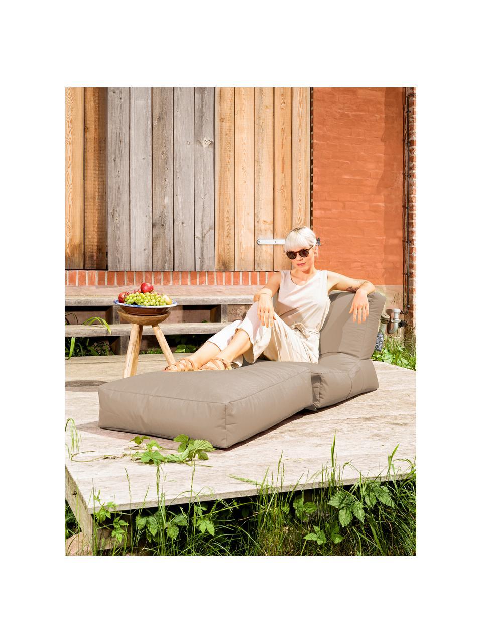 Poltrona letto da giardino Pop Up, Rivestimento: 100% poliestere All'inter, Cachi, Larg. 70 x Prof. 90 cm