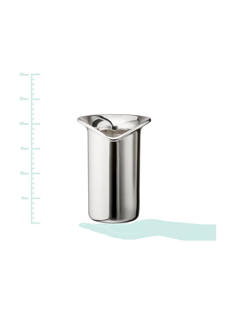Refrigeratore bottiglie in acciaio inossidabile Wine & Bar, Acciaio inossidabile lucidato a specchio, Acciaio inossidabile lucido, Larg. 16 x Alt. 22 cm