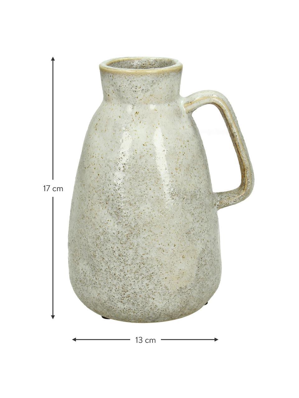 Wazon Ametrine, Kamionka, Beżowy, S 12 x W 17 cm