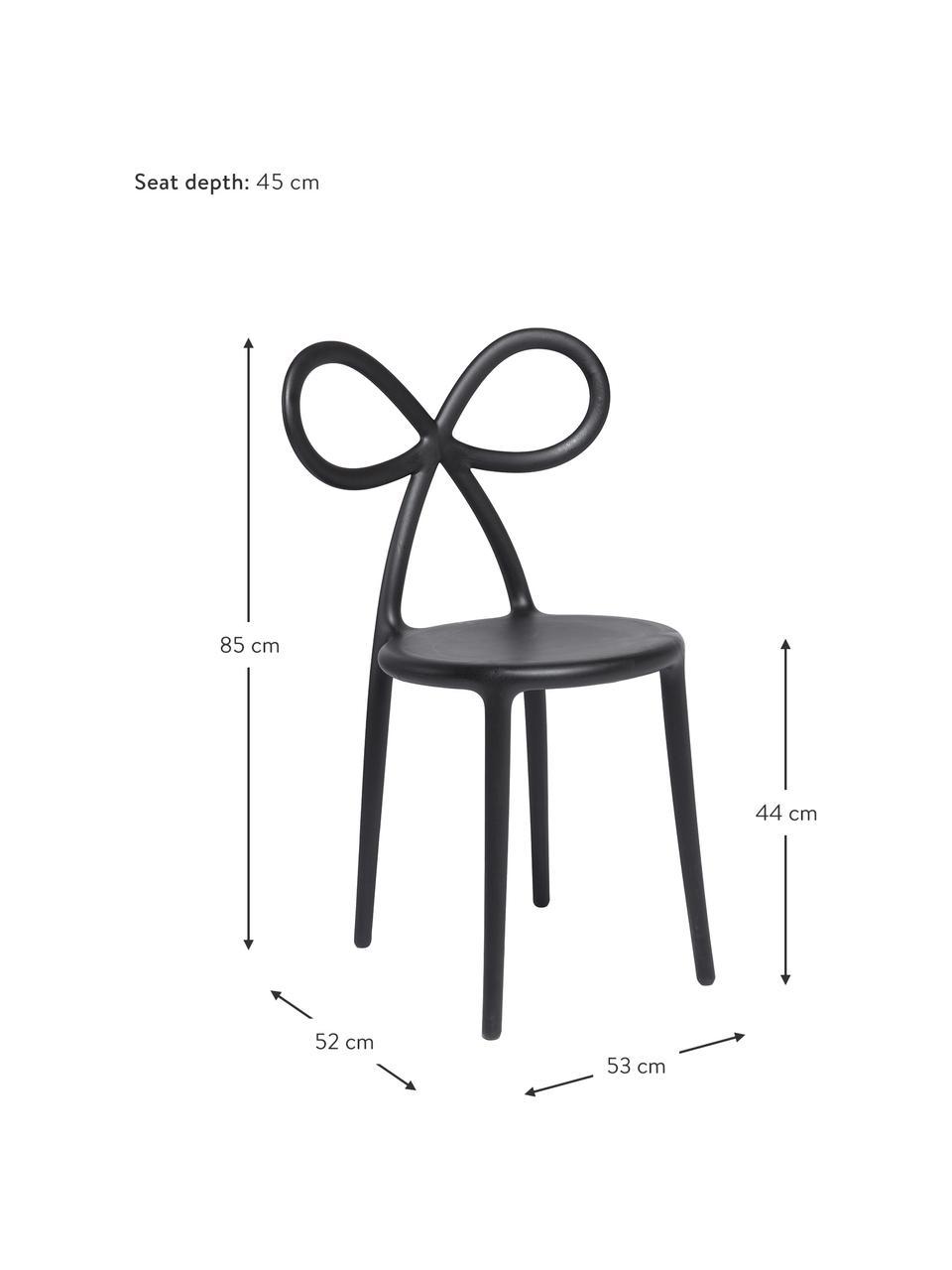 Židle z umělé hmoty Ribbon, Černá