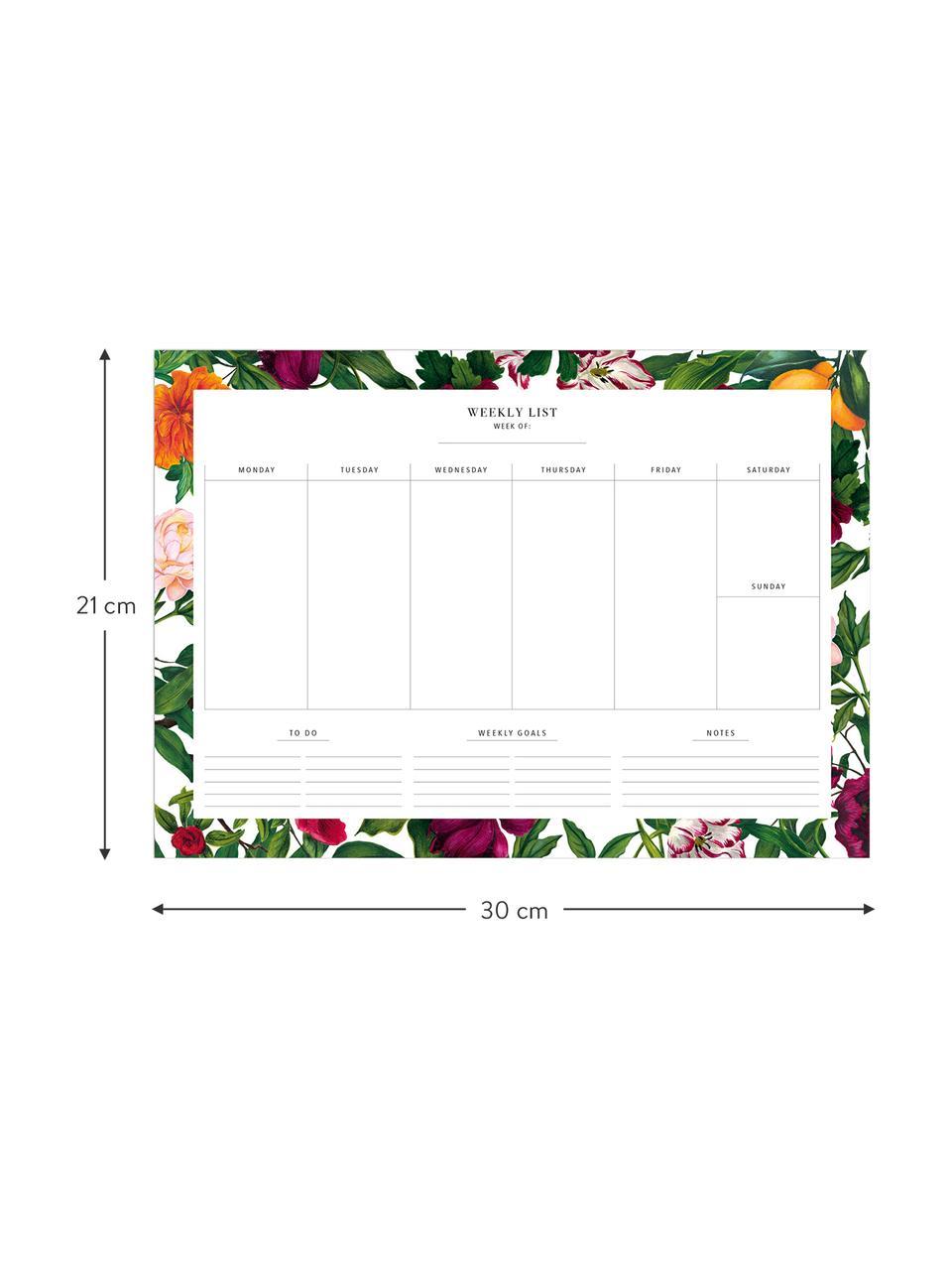 Agenda settimanale The English Garden, Carta, Multicolore, Larg. 30 x Alt. 21 cm