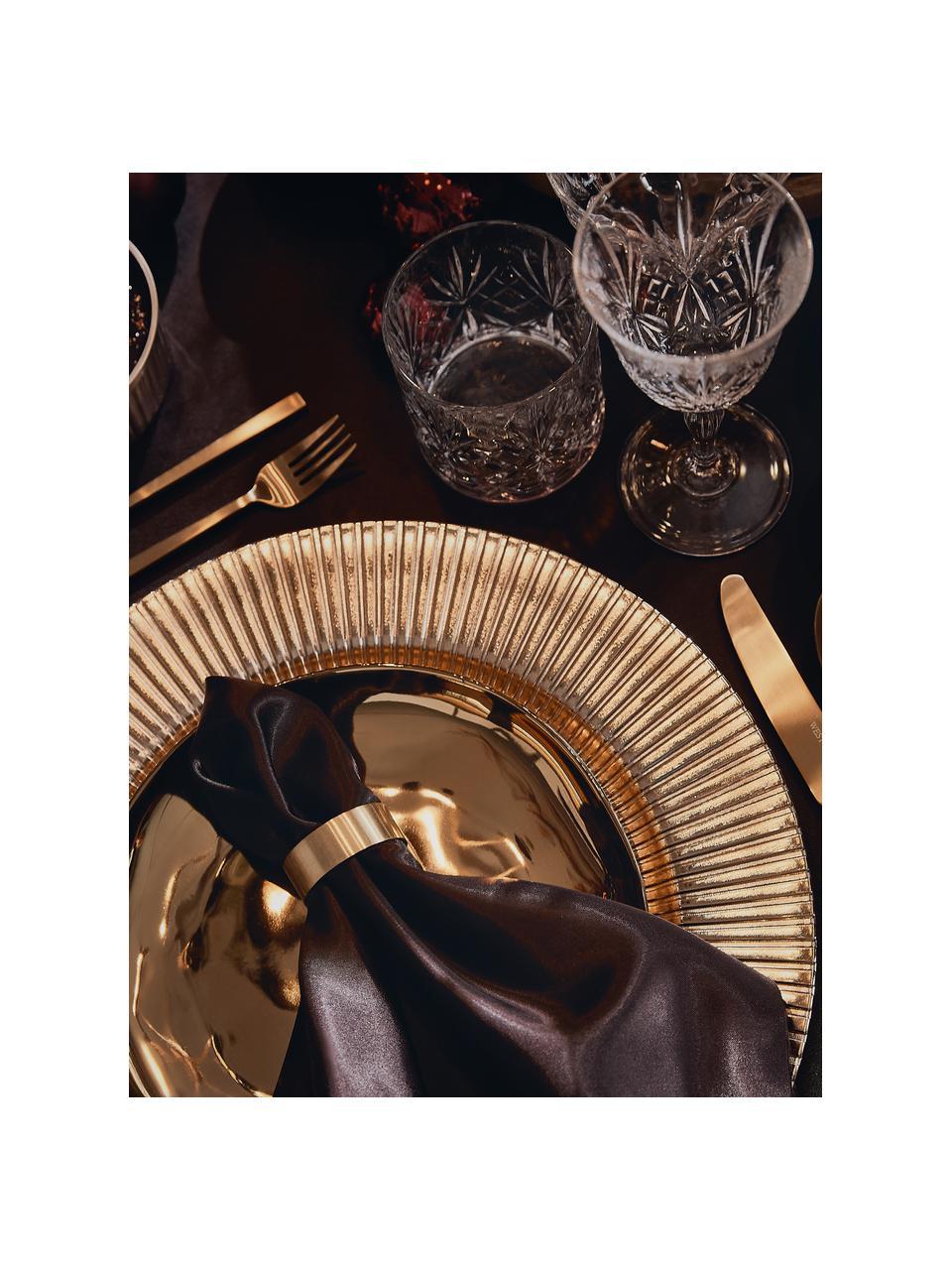 Set di posate dorate in acciaio inossidabile Shine, Coltello: acciaio inossidabile 13/0, Dorato, 1 persona (5 pz)