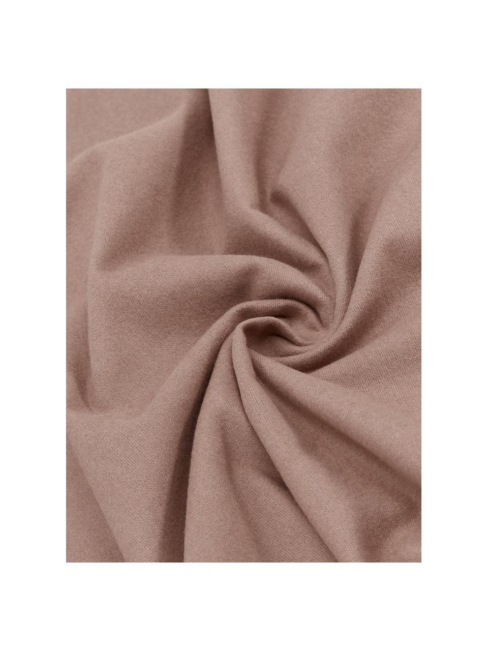 Flanell-Bettwäsche Biba in Braun, Webart: Flanell Flanell ist ein k, Braun, 135 x 200 cm + 1 Kissen 80 x 80 cm