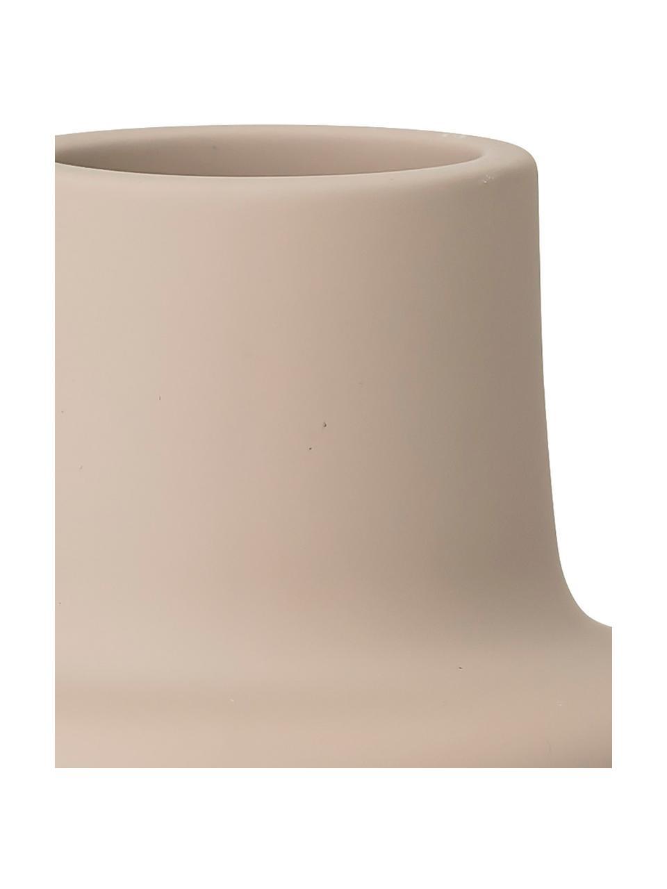 Portalumino in gres Noma, Gres, Beige, Ø 10 x Alt. 9 cm