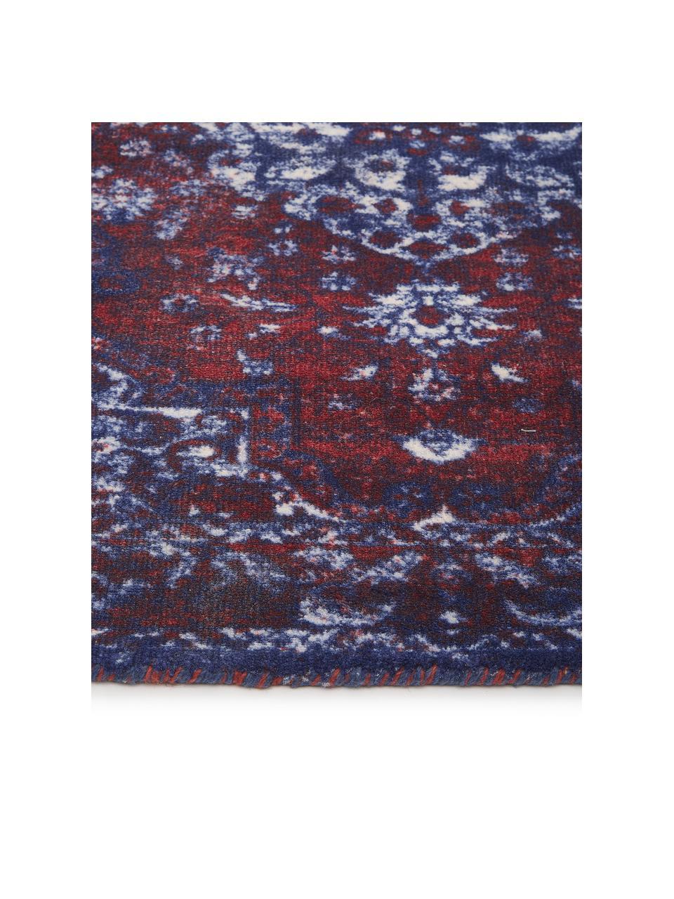 Teppich Elegant im Vintage Style, Flor: 100% Nylon, Rot, Blau, B 120 x L 180 cm (Größe S)