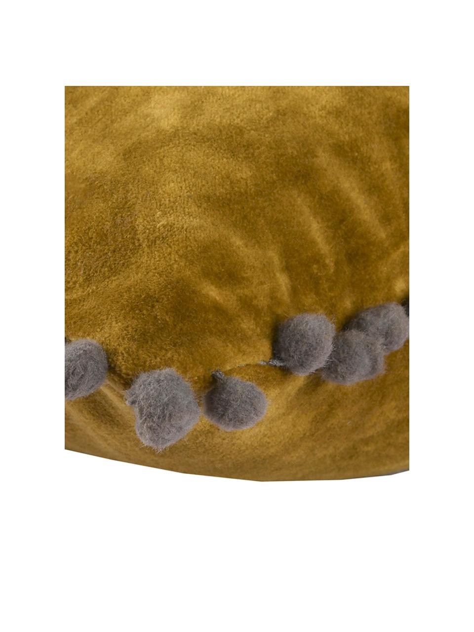 Poszewka na poduszkę z aksamitu Avoriaz, 70% aksamit poliestrowy, 30% akryl, Żółty, S 30 x D 50 cm