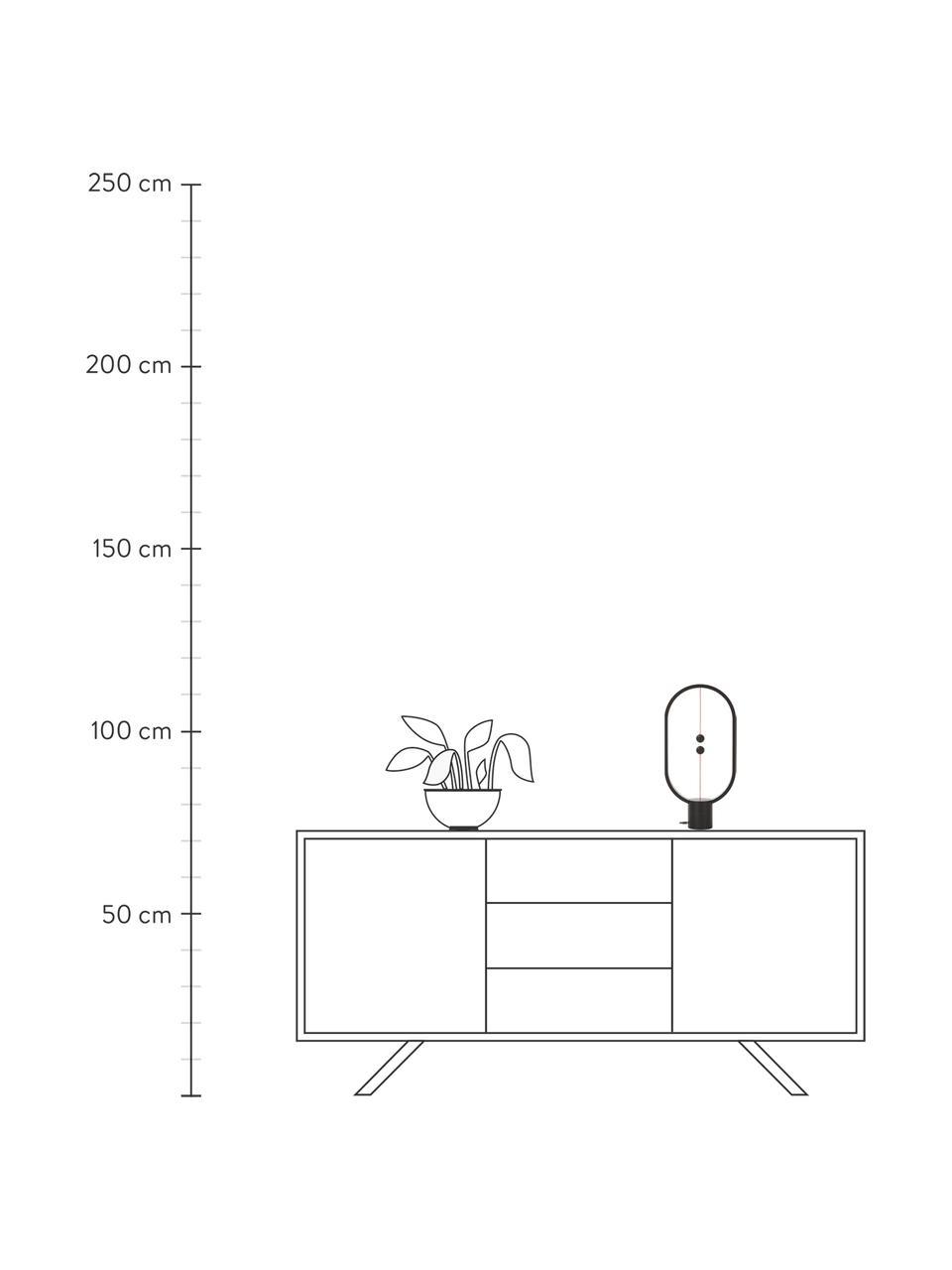 Mobilna lampa stołowa LED Heng, Biały, S 20 x W 40 cm