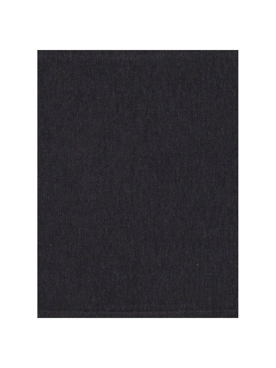 Runner in misto cotone antracite Riva, 55% cotone, 45% poliestere, Antracite, Larg. 40 x Lung. 150 cm