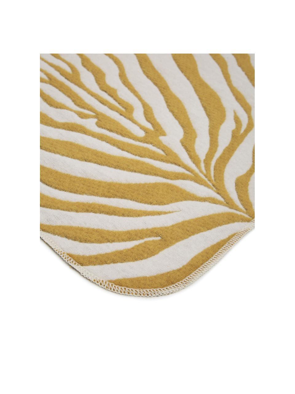 Pled Sana, Musztardowy, biały, S 140 x D 180 cm