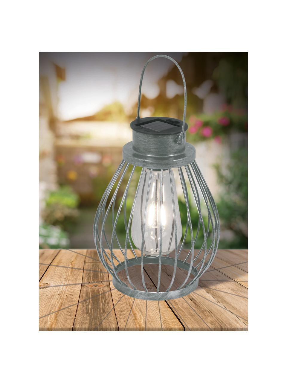 Solar Außenleuchte Grid zum Hängen und Stellen, Lampenschirm: Glas, Metall, Ø 16 x H 30 cm