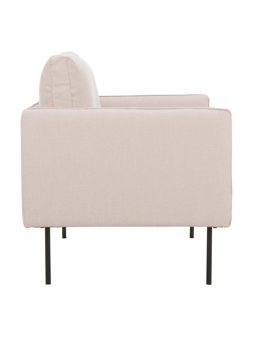 Sofa Ramira (2-Sitzer) in Rosa mit Metall-Füßen, Bezug: Polyester 40.000 Scheuert, Gestell: Massives Kiefernholz, Spe, Füße: Metall, pulverbeschichtet, Webstoff Rosa, 151 x 79 cm