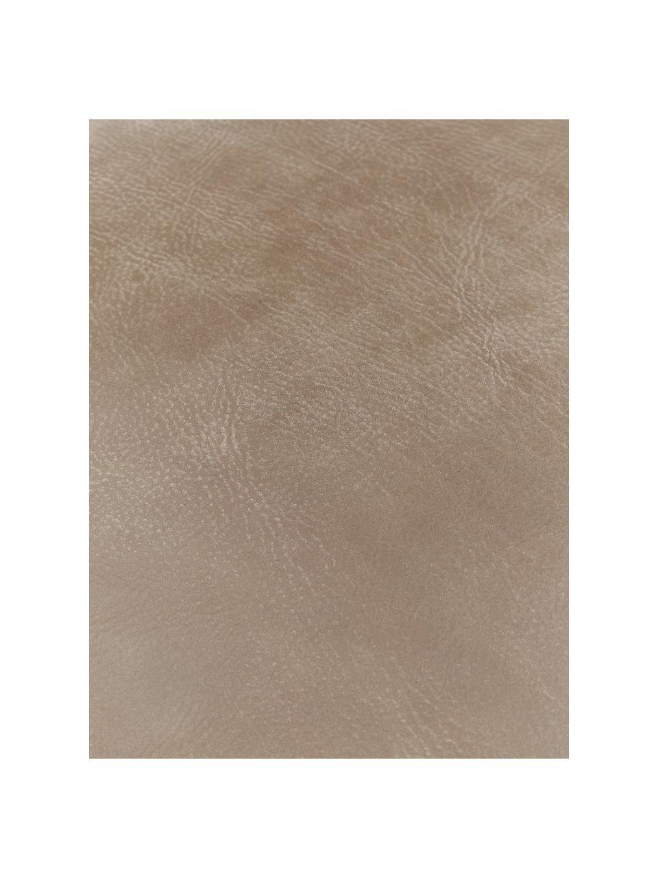 Puf ze skóry Porthos, Tapicerka: 100% skóra anilinowa, Brązowy, S 80 x W 33 cm