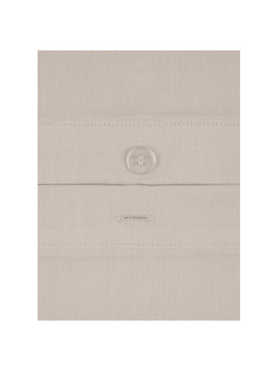 Pościel z satyny bawełnianej Comfort, Taupe, 155 x 220 cm + 1 poduszka 80 x 80 cm