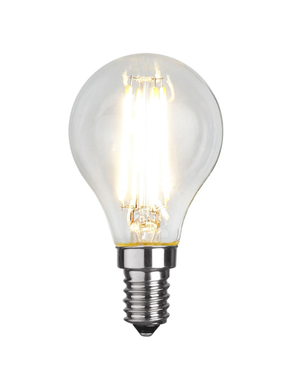 Lampadina E14, 4W, bianco caldo 6 pz, Lampadina: vetro, Trasparente, Ø 5 x Alt. 8 cm