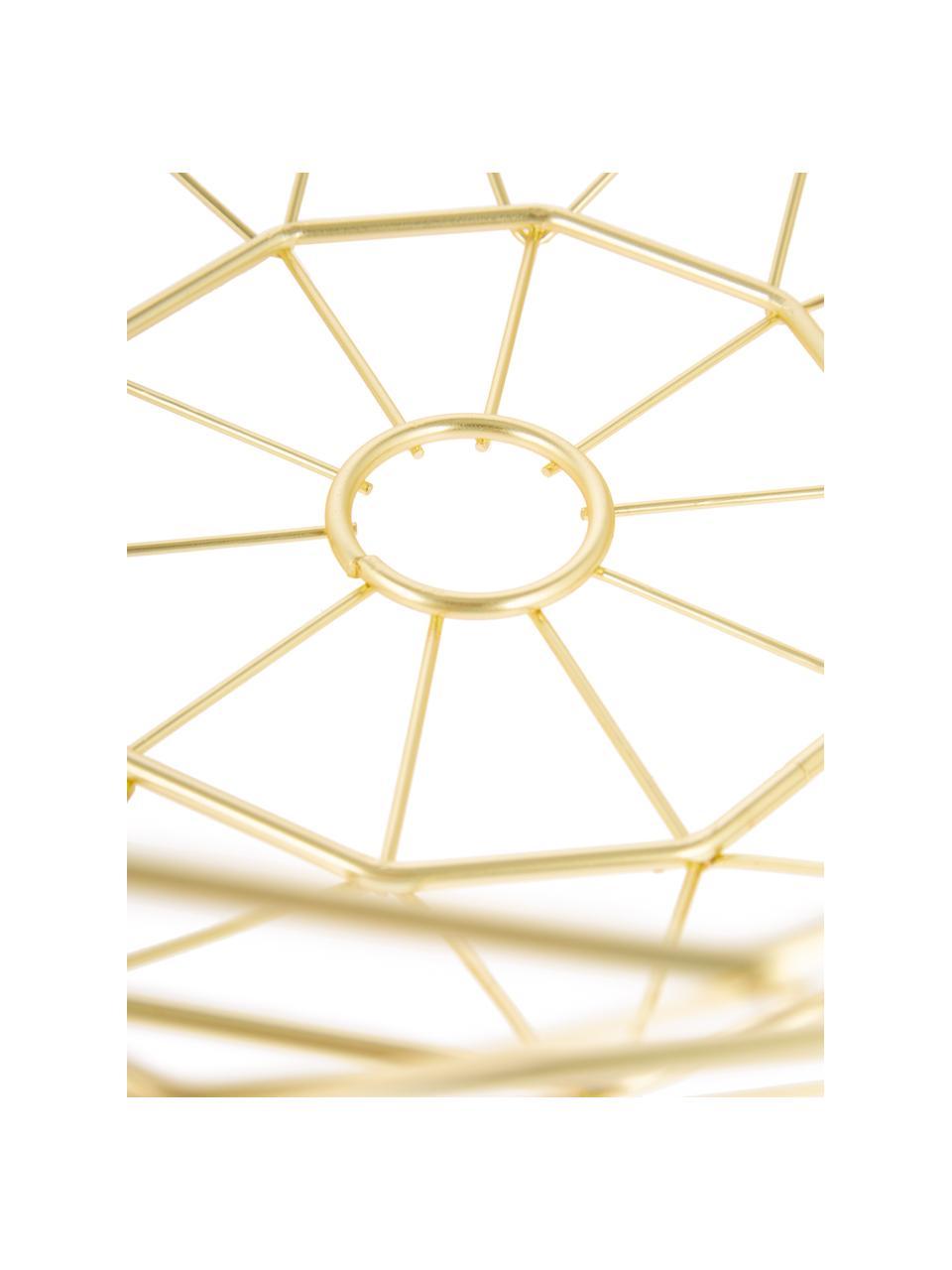Cestino Diamond Cut, Metallo, Dorato opaco, Ø 35 x Alt. 13 cm