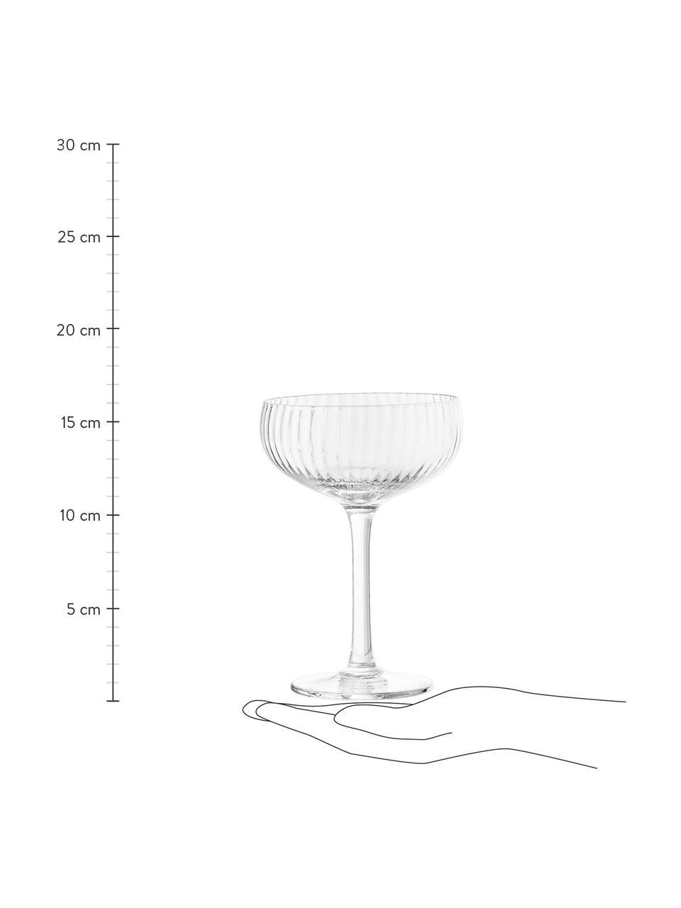Coupe à champagne Astrid, 6 pièces, Transparent