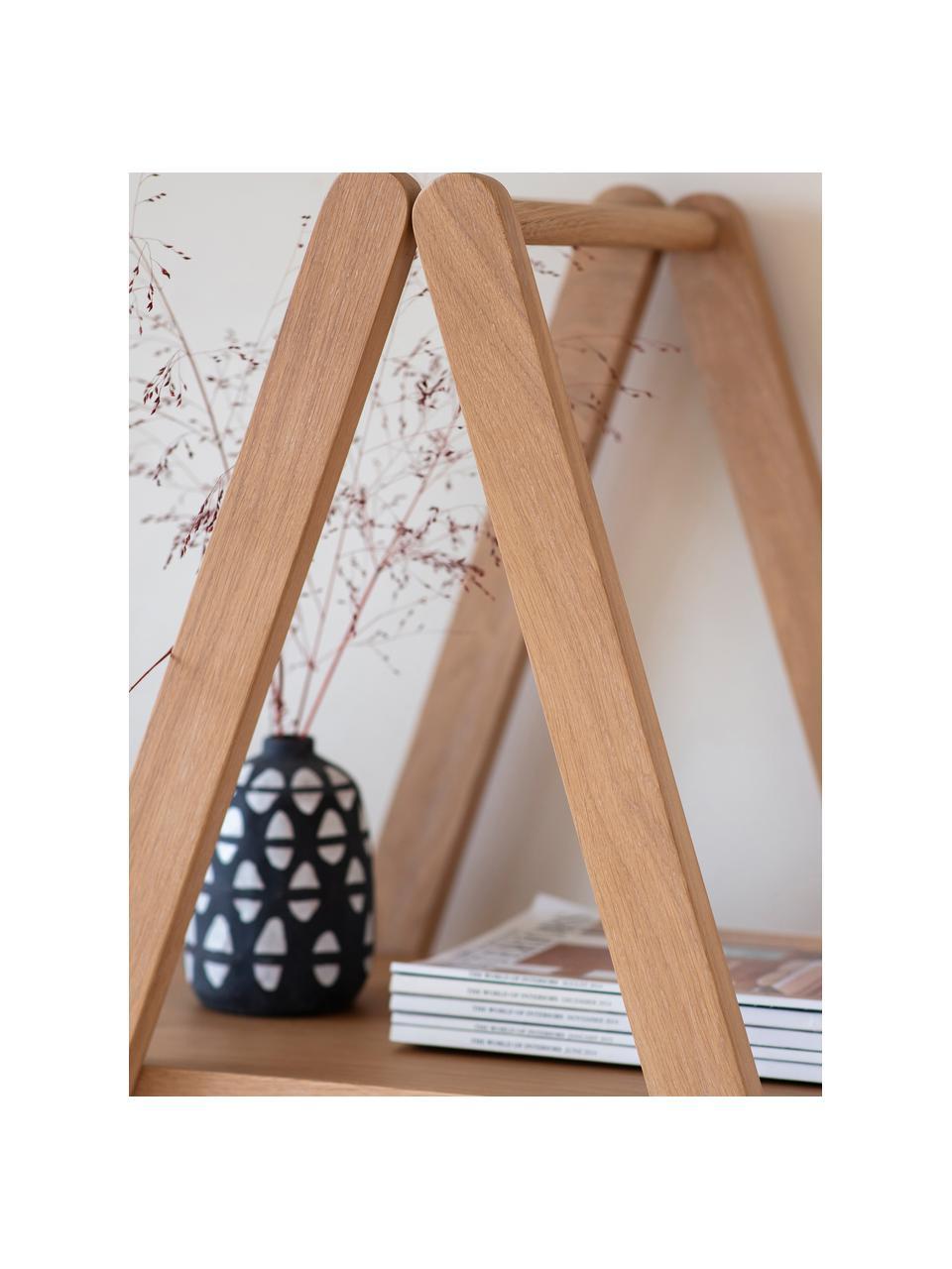 Libreria marrone chiaro Clapham, Pannello di fibra a media densità (MDF) con finitura in legno di quercia, Marrone chiaro, Larg. 120 x Alt. 175 cm
