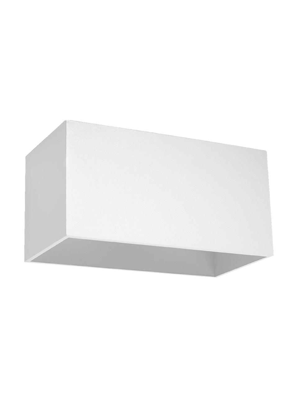 Applique bianca Geo Maxi, Paralume: alluminio, Bianco, Larg. 20 x Alt. 10 cm