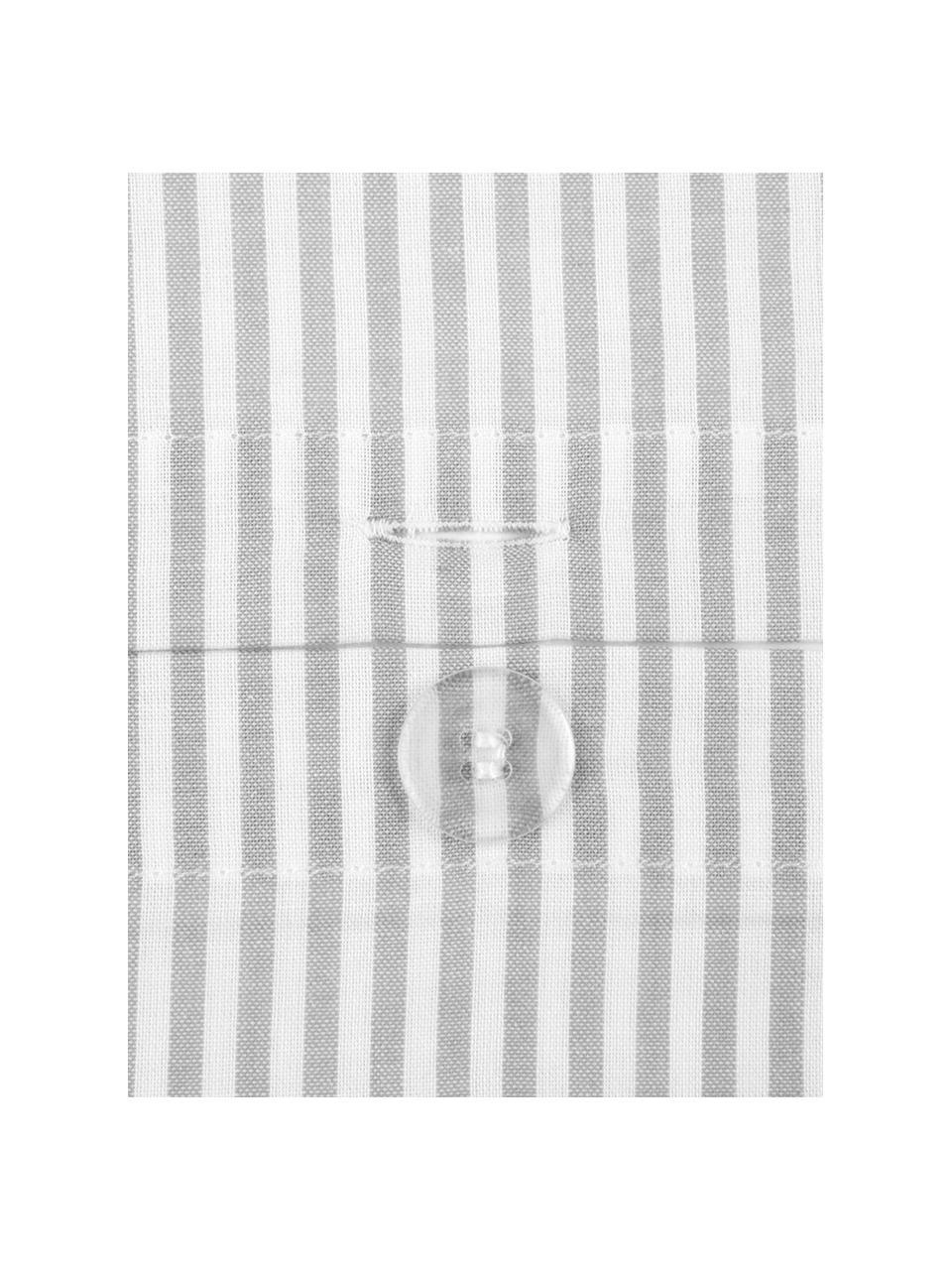 Renforcé dekbedovertrek Ellie, Weeftechniek: renforcé, Wit, grijs, 140 x 200 cm