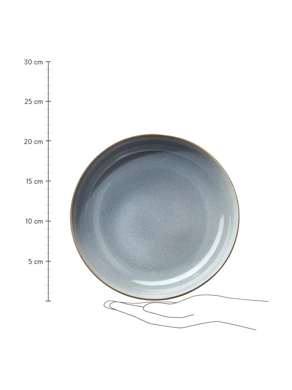 Talerz głęboki z kamionki Saisons, 6 szt., Kamionka, Niebieski, Ø 21 cm