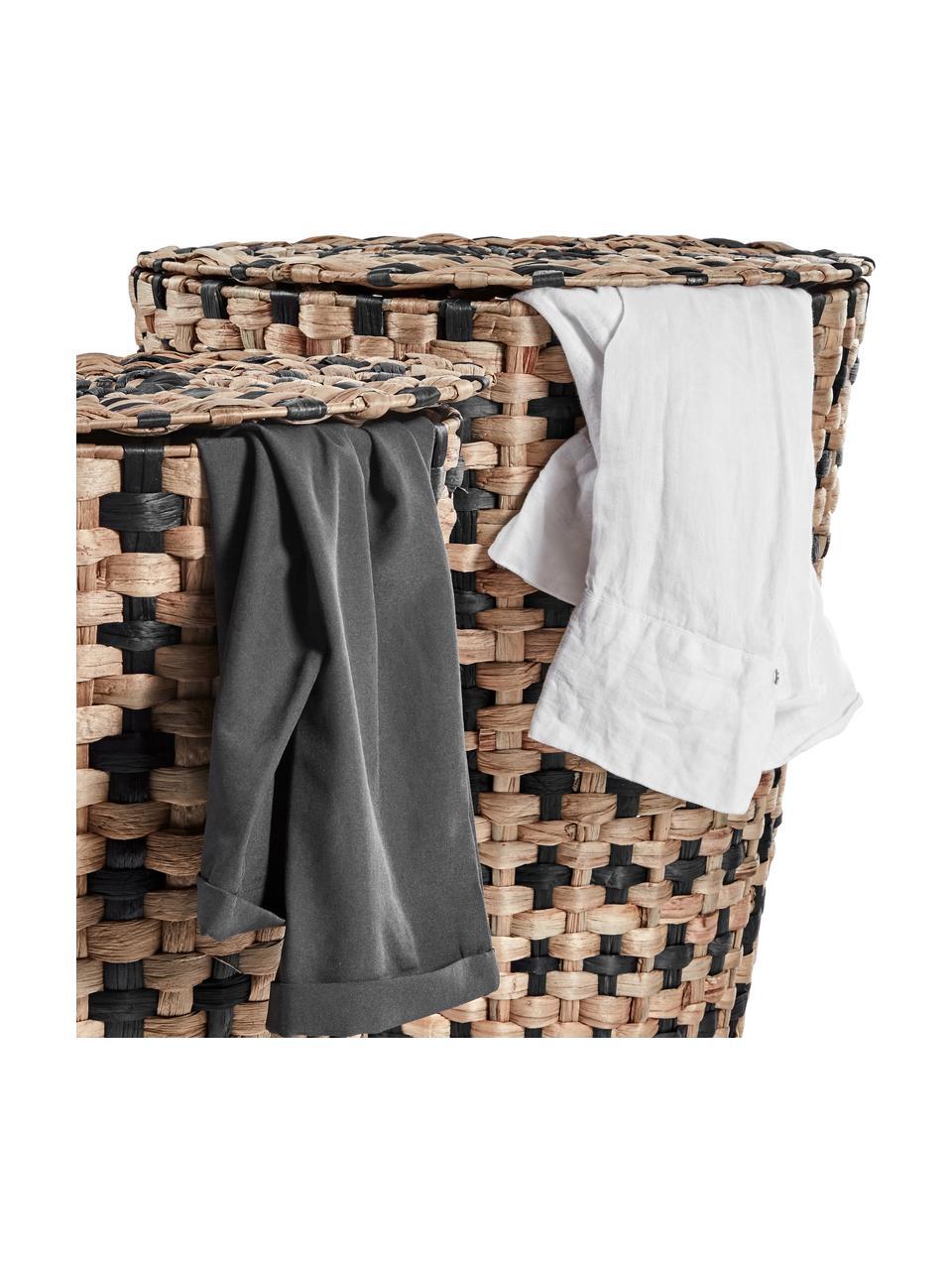 Sada prádelních košů Cumberland, 2 díly, Hnědá, černá