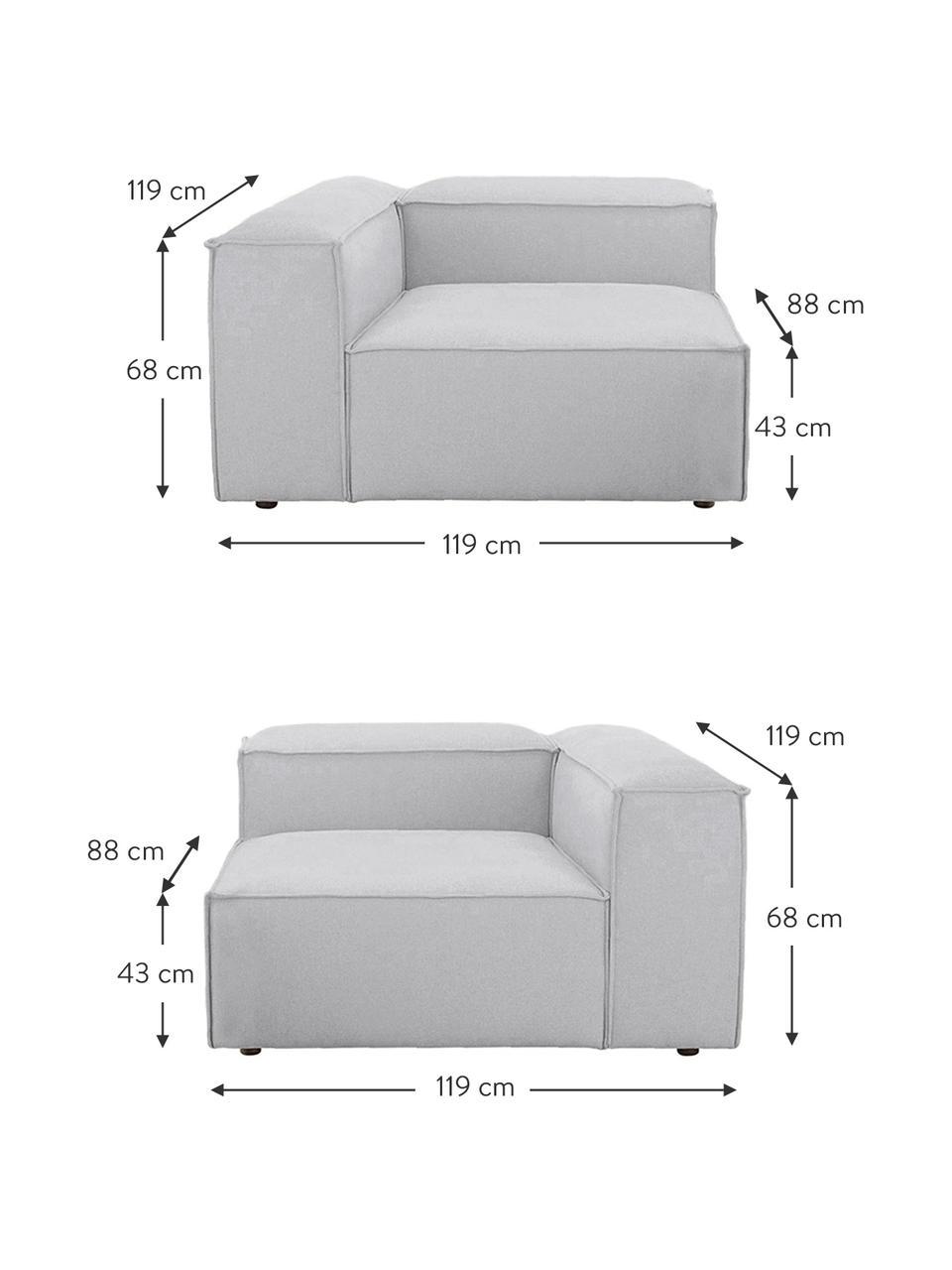 Canapé 3places modulable gris clair Lennon, Tissu gris clair