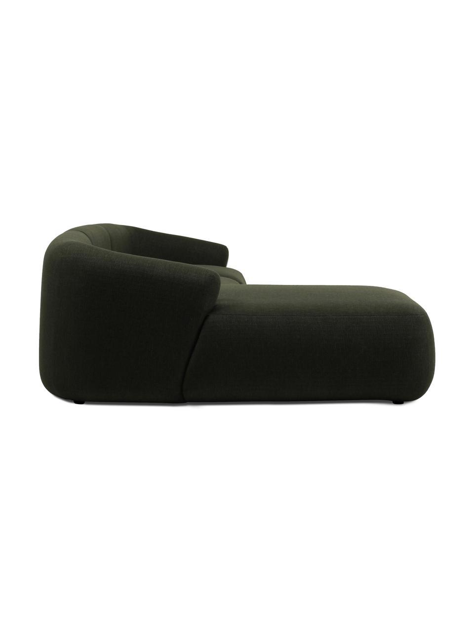 Narożna sofa modułowa Sofia, Tapicerka: 100% polipropylen Dzięki , Stelaż: lite drewno sosnowe, płyt, Nogi: tworzywo sztuczne, Zielony, S 278 x G 174 cm
