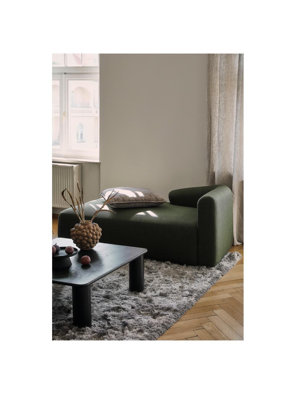 Modulaire hoekbank Sofia, groen, Bekleding: 100% polypropyleen, Frame: massief grenenhout, spaan, Poten: kunststof, Donkergroen, B 278 x D 174 cm