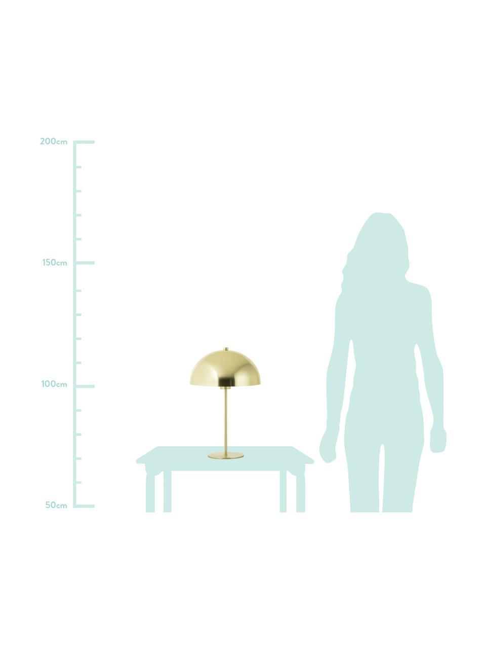 Tafellamp Matilda van metaal, Lampenkap: vermessingd metaal, Lampvoet: vermessingd metaal, Messingkleurig, Ø 29 x H 45 cm