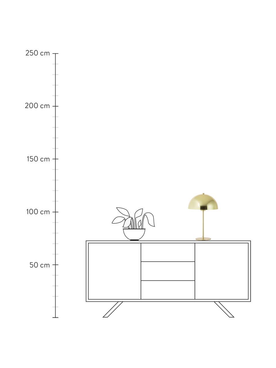 Tischlampe Matilda aus Metall, Lampenschirm: Metall, vermessingt, Lampenfuß: Metall, vermessingt, Messing, Ø 29 x H 45 cm