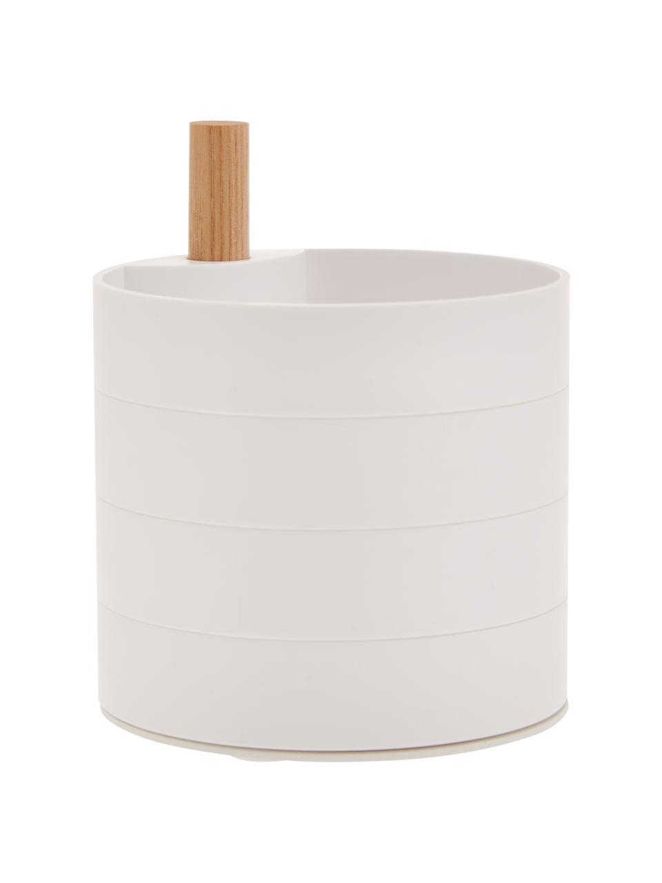Schmuckdose Tosca, Stange: Holz, Weiß, Braun, 10 x 12 cm
