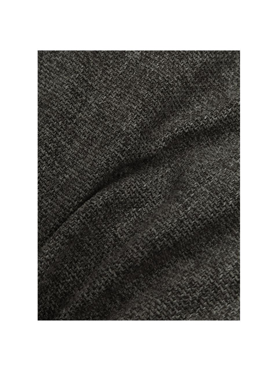 Coussin canapé 60x60 gris anthracite Lennon, Anthracite