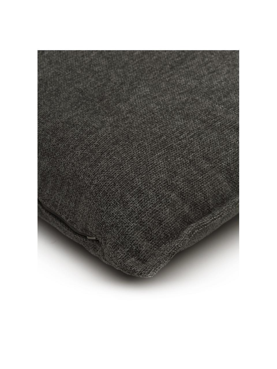 Sofa-Kissen Lennon in Anthrazit, Bezug: 100% Polyester, Webstoff Anthrazit, 60 x 60 cm