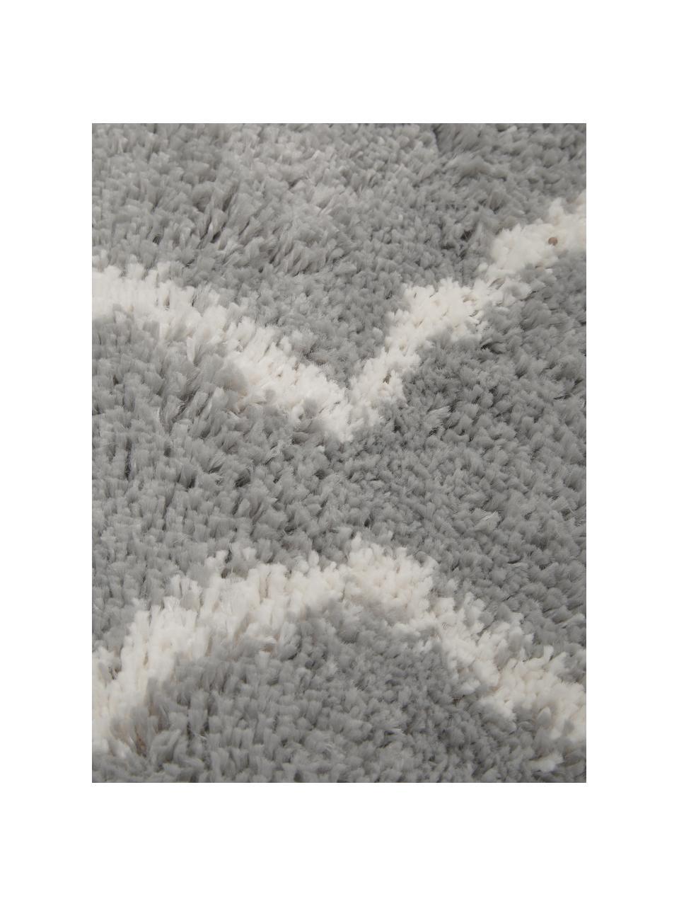 Tappeto a pelo lungo grigio/crema Velma, Retro: 78% juta, 14% cotone, 8% , Grigio, bianco crema, Larg. 200 x Lung. 300 cm (taglia L)