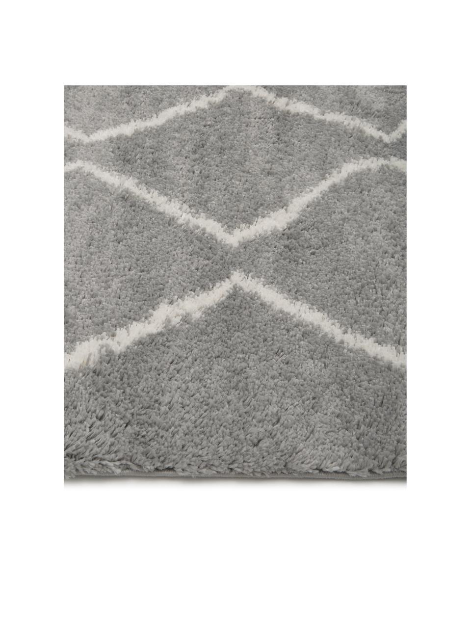 Hochflor-Teppich Velma in Grau/Creme, Flor: 100% Polypropylen, Grau, Cremeweiß, B 300 x L 400 cm (Größe XL)