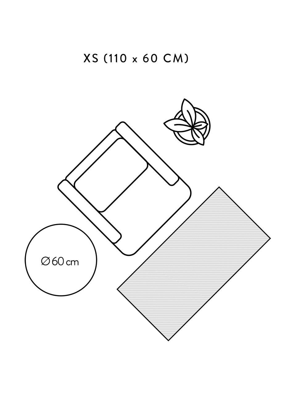 Wollen vloerkleed Ida in grijs, Bovenzijde: 100% wol, Onderzijde: 60% jute, 40% polyester B, Grijs, B 300 x L 400 cm (Maat XL)