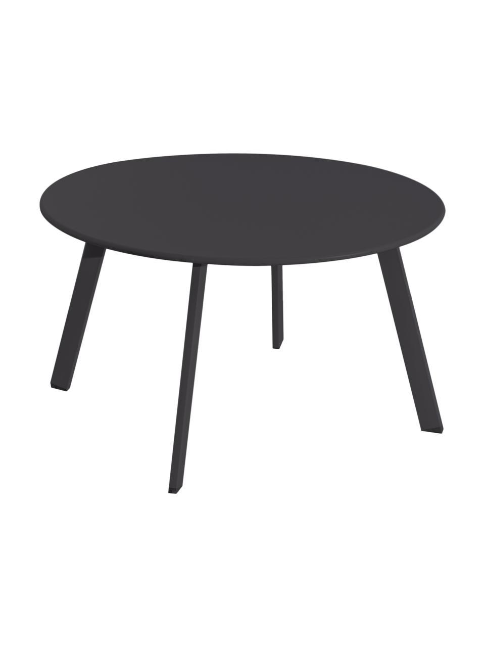 Tavolino da giardino in acciaio antracite Marzia, Acciaio epossidato, Antracite, Ø 70 x Alt. 40 cm