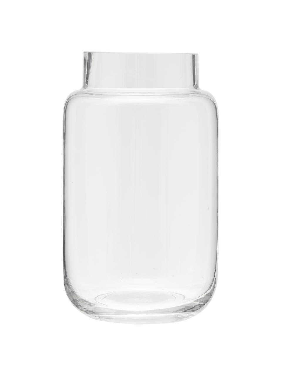 Glas-Vase Lasse, groß, Glas, Transparent, Ø 13 x H 22 cm