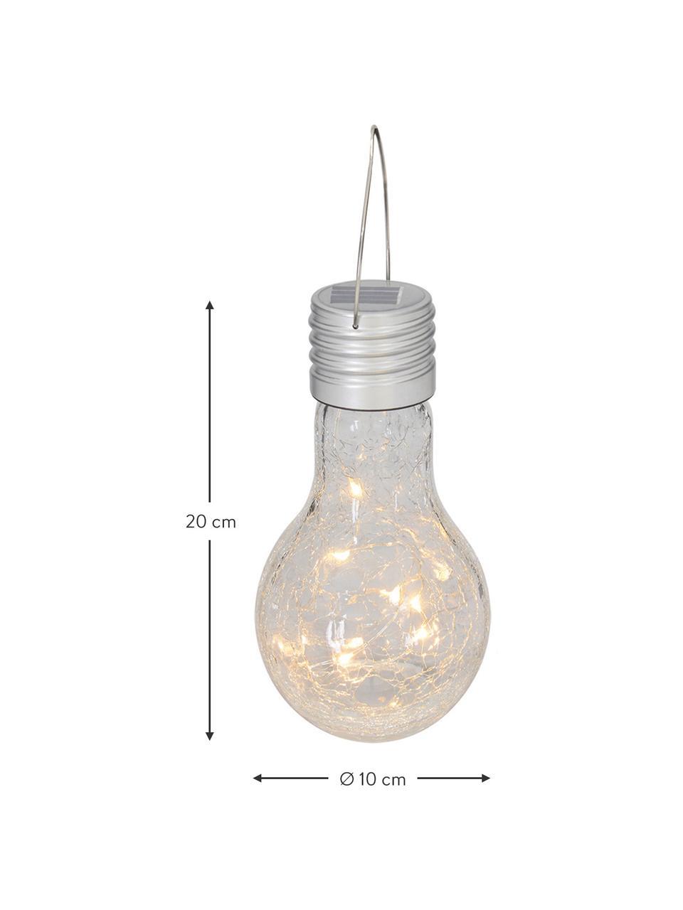 Ampoule solaire LED mobile Martin, 3pièces, Abat-jour: transparent Douille: nickel