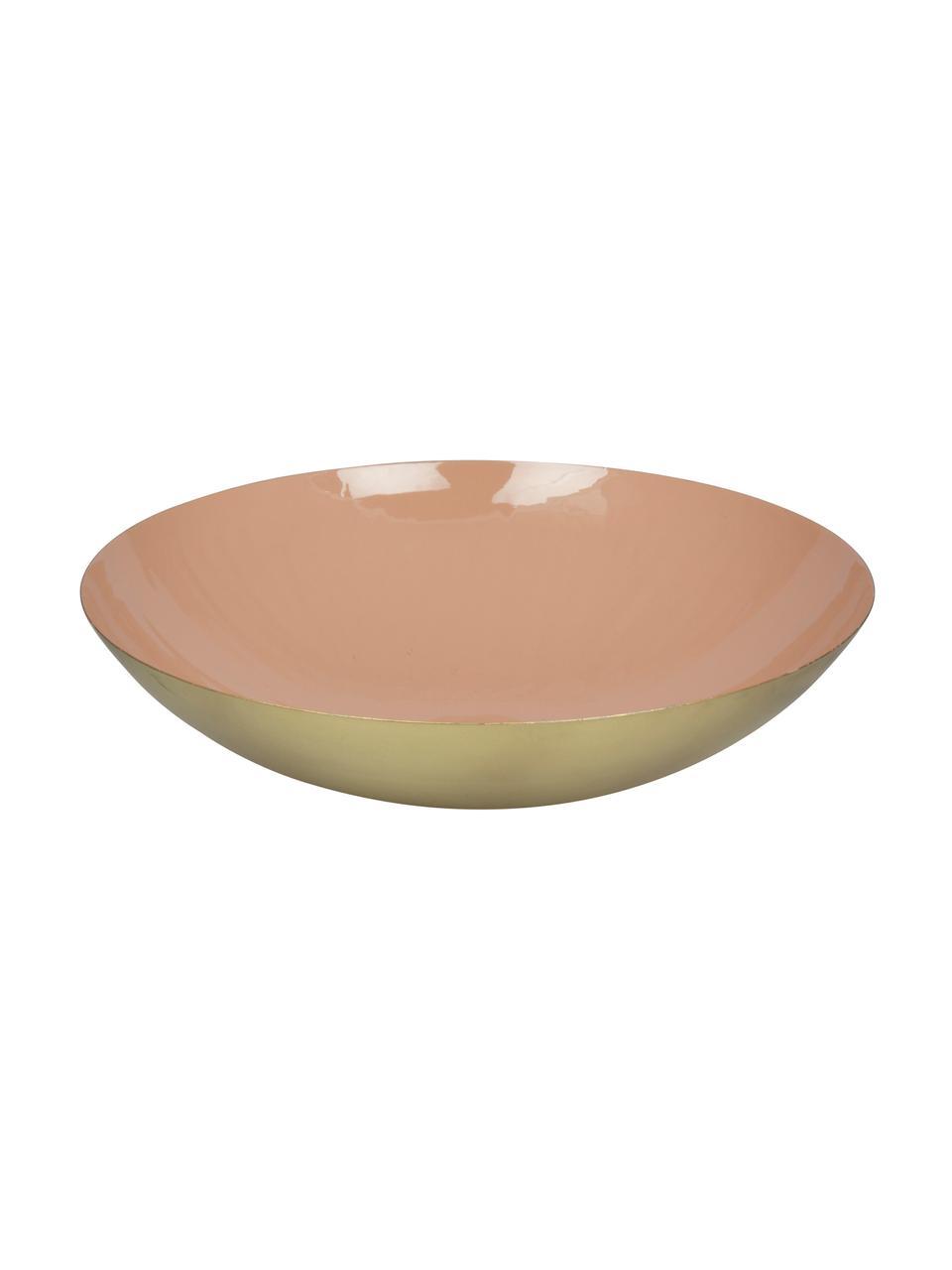 Miska do serwowania Julienne, Metal powlekany, Wewnątrz: brzoskwiniowy na zewnątrz: odcienie złotego, Ø 34 x W 9 cm