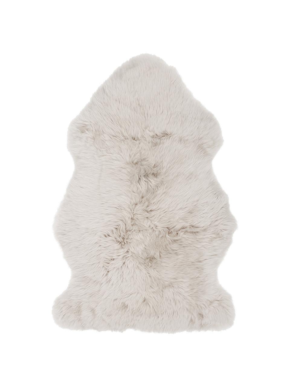 Schaffell Oslo, glatt, Flor: 100% Schaffell, Beige, 60 x 90 cm