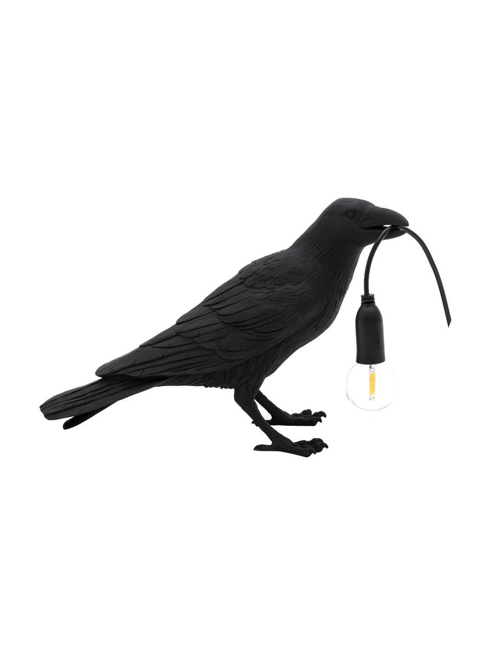 Designová stolní lampa Bird, Černá