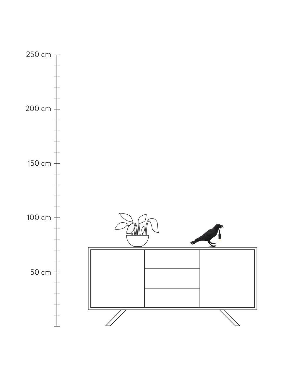 Design Tischlampe Bird, Schwarz, 33 x 12 cm