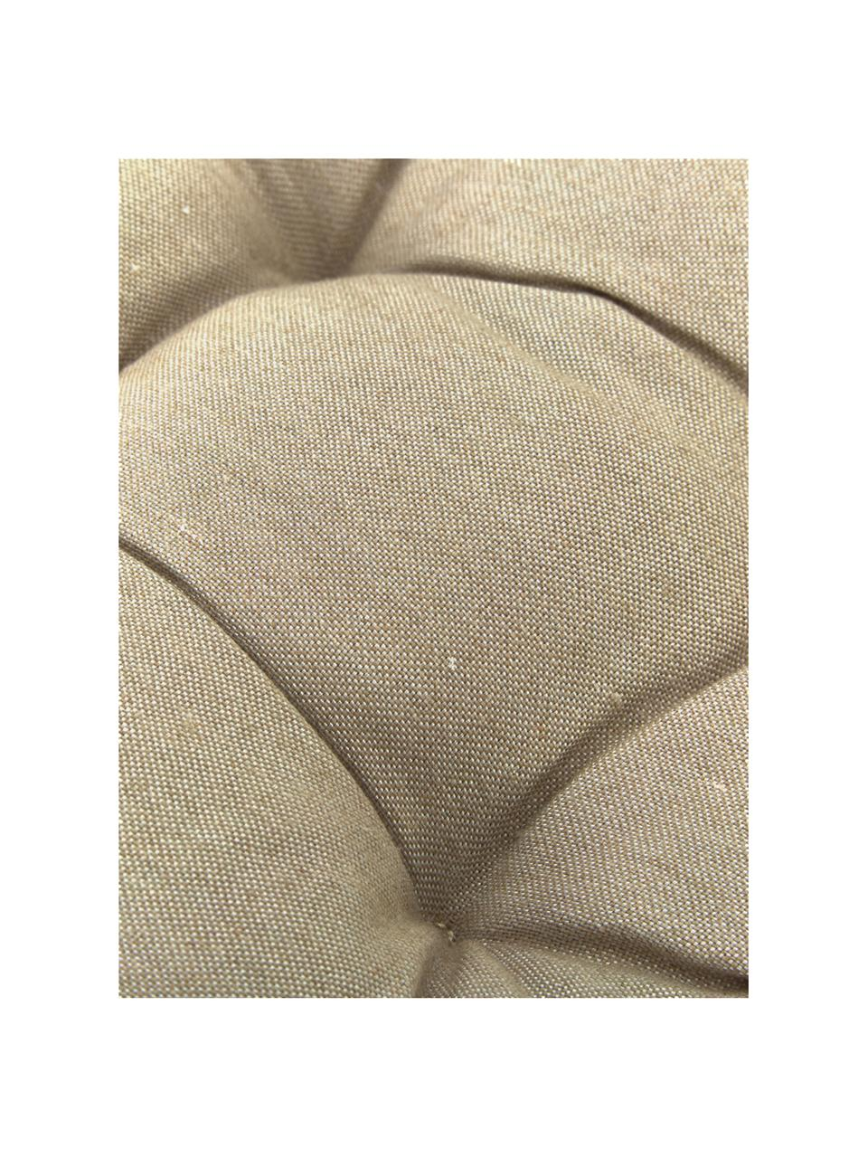 Poduszka na krzesło Panama, Tapicerka: 50% bawełna, 45% polieste, Odcienie piaskowego, S 45 x D 45 cm