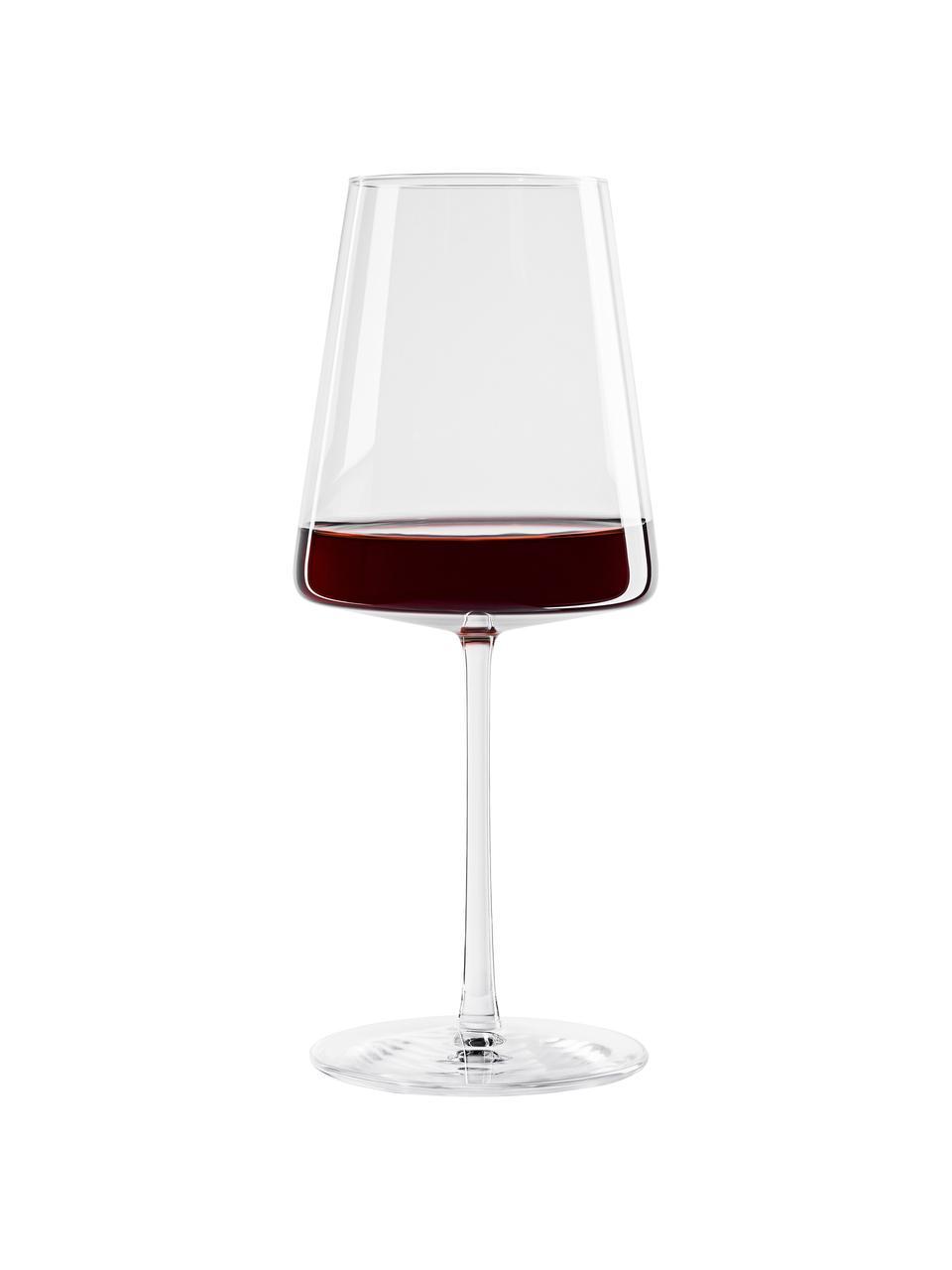 Kristallen rode wijnglazen Power, 6 stuks, Kristalglas, Transparant, Ø 9 x H 23 cm