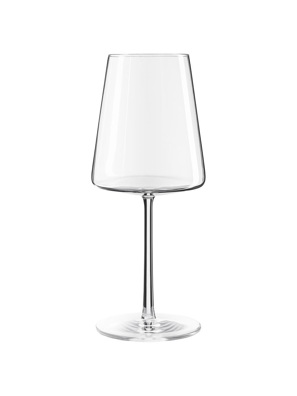 Kristallen rode wijnglazen Power in kegelvorm, 6 stuks, Kristalglas, Transparant, Ø 9 x H 23 cm