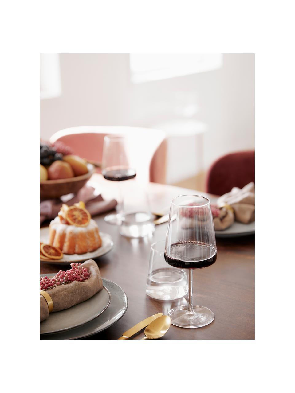 Rode wijnglazen Power in kegelvorm, 6 stuks, Kristalglas, Transparant, Ø 9 x H 23 cm